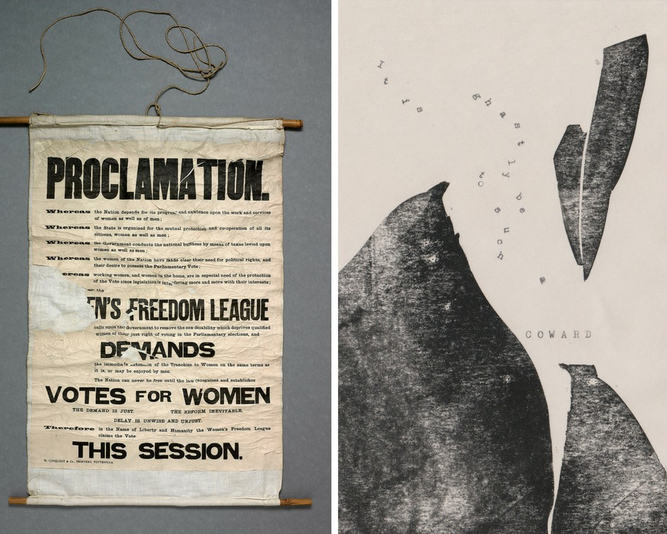AfL Conference 2019 Poster: Suffrage banner, 1908. Parliamentary Archives, HCSASJ31 and Coward, by Mireille Fauchon