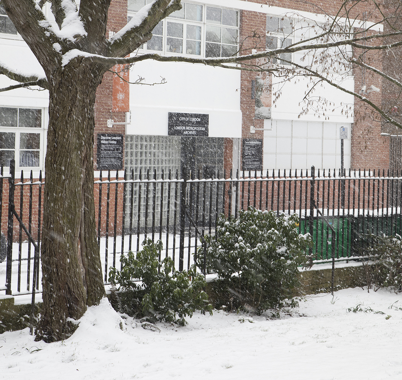 London Metropolitan Archives in the snow