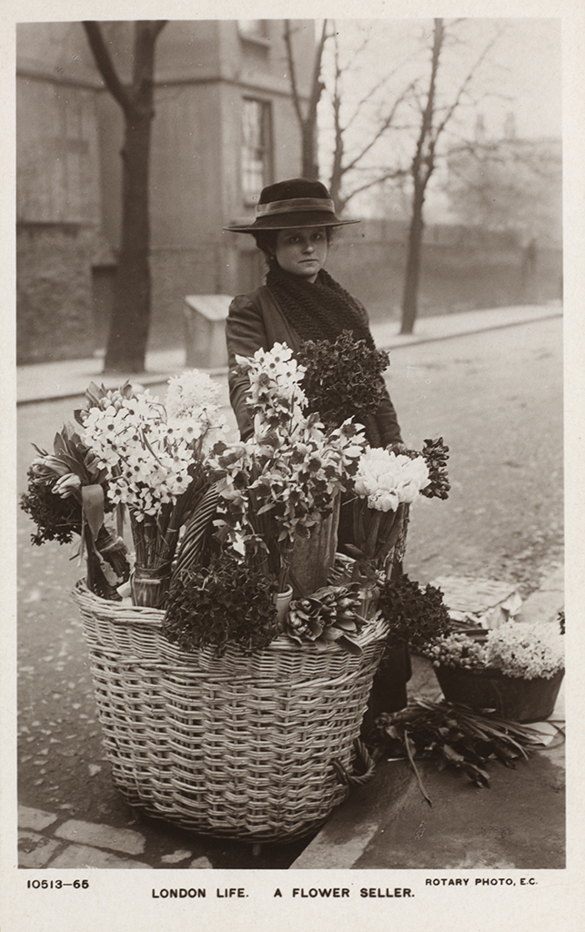 London Life - A Flower Seller. Credit London Metropolitan Archives